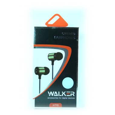 """Наушники Walker H710 """"Металл"""" гарнитура синие (с микрофоном и кнопкой ответа)"""