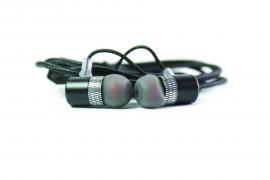 """Наушники Walker H720 """"Металл"""" гарнитура черные (с микрофоном и кнопкой ответа) матерчатый провод"""