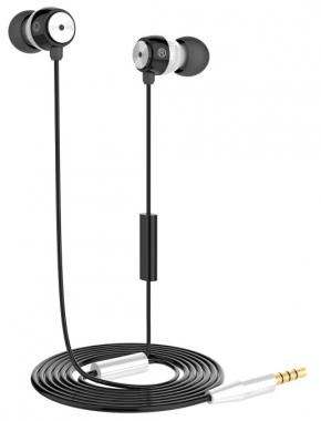 Наушники Hoco EPM01 вставные (затычки) с микрофоном, цвет белый