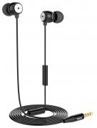 Наушники Hoco EPM01 вставные (затычки) с микрофоном, цвет черный