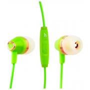 Наушники Hoco M4 Color Universal Earphone вставные (затычки) с микрофоном, цвет зеленый
