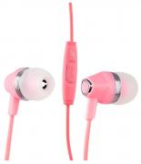 Наушники Hoco M4 Color Universal Earphone вставные (затычки) с микрофоном, цвет розовый
