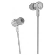 Наушники Hoco M7 Universal Metal Earphones вставные (затычки) с микрофоном, цвет серебряный