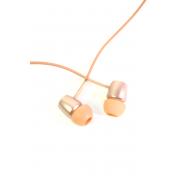 Наушники капельки Hoco M10 вставные (затычки) с микрофоном, золотая роза