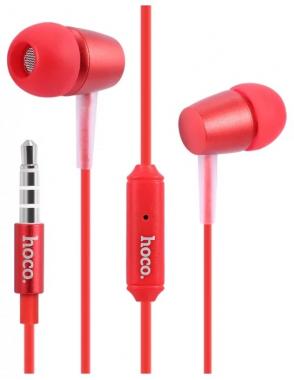 Наушники Hoco M10 вставные (затычки) с микрофоном, красные