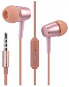 Наушники Hoco M10 вставные (затычки) с микрофоном, цвет розовый