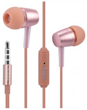 Наушники Hoco M10 вставные (затычки) с микрофоном, розовый