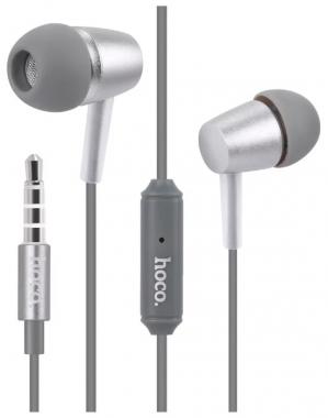 Наушники Hoco M10 вставные (затычки) с микрофоном, серые