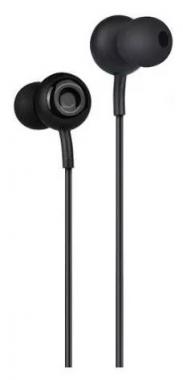 Наушники Hoco M24 Leyo Universal Earphone вставные (затычки) с микрофоном, цвет черный