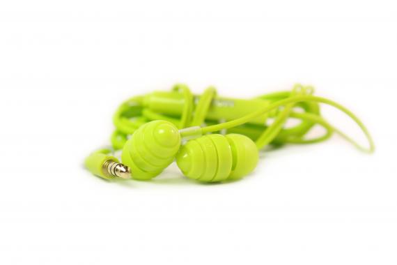 Наушники капельки Joyroom EL112  вакуумные  зеленые
