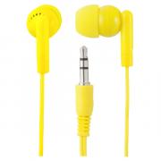 Наушники Perfeo PF-NNM вставные (затычки), цвет желтый