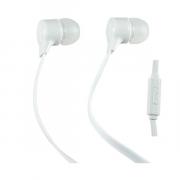 Наушники Perfeo Handy вставные (затычки) с микрофоном, цвет белый