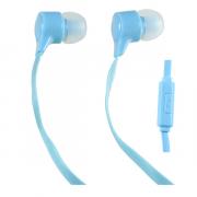 Наушники Perfeo Handy вставные (затычки) с микрофоном, цвет голубой