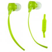 Наушники Perfeo Handy вставные (затычки) с микрофоном, цвет зеленый