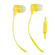 Наушники Perfeo Handy вставные (затычки) с микрофоном, цвет желтый