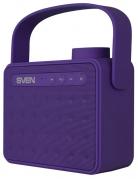 Портативная акустика Sven PS-72, 1.0, FM-тюнер, USB, microSD, Bluetooth, цвет фиолетовый, с ручкой