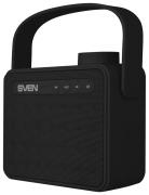 Портативная акустика Sven PS-72, 1.0, FM-тюнер, USB, microSD, Bluetooth, черная с ручкой