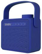 Портативная акустика Sven PS-72, 1.0, FM-тюнер, USB, microSD, Bluetooth, цвет синий, с ручкой