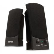 """Колонки для компьютера Perfeo """"Uno"""" 2.0, мощность 2х3 Вт (RMS), черные, USB"""