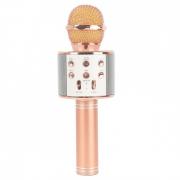 Микрофон караоке беспроводной WS-858, цвет розовое золото