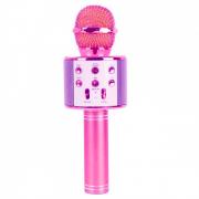 Микрофон караоке беспроводной WS-858, цвет розовый