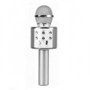 Микрофон караоке беспроводной WS-858, цвет серебряный