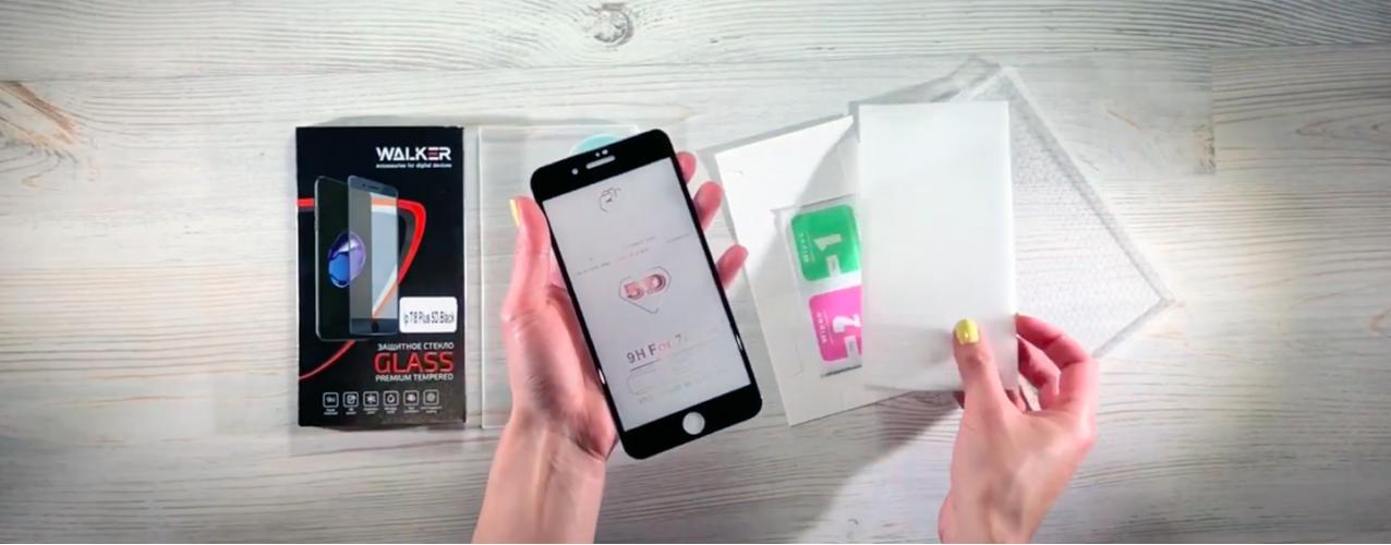 Обзор защитного стекла фирмы Walker для iPhone 7 plus