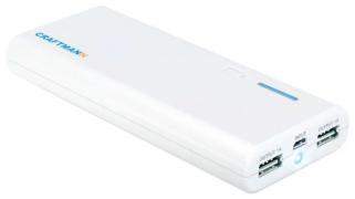 Внешний аккумулятор Craftmann UNI 1250 емкостью 12500 мАч белый
