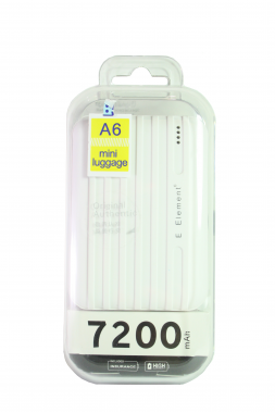 Внешний акб E-element A6 Power bank 7200 мАч белый