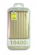 Внешний аккумулятор E-element A10 Power bank 10400 мАч золотой