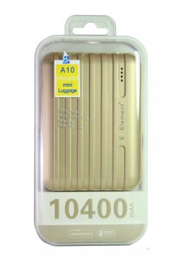 Внешний акб E-element A10 Power bank 10400 мАч золотой