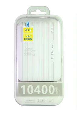 Внешний акб E-element A10 Power bank 10400 мАч белый