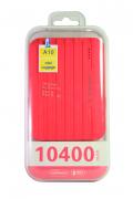 Внешний аккумулятор E-element A10 Power bank 10400 мАч розовый