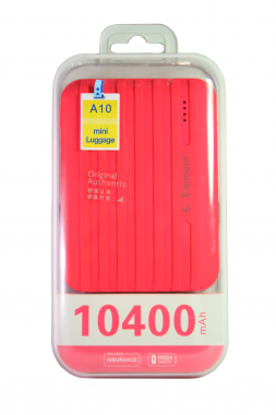 Внешний акб E-element A10 Power bank 10400 мАч розовый