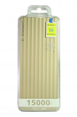 Внешний акб E-element S6 Power bank 15000 мАч золотой