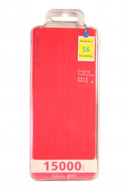 Внешний акб E-element S6 Power bank 15000 мАч розовый