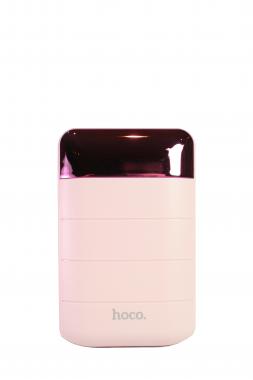 Внешний акб Hoco B29-10000 розовый, с дисплеем 10000 мАч