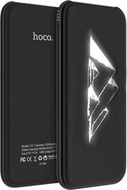 Внешний аккумулятор Hoco J10-10000 черный Pyramid
