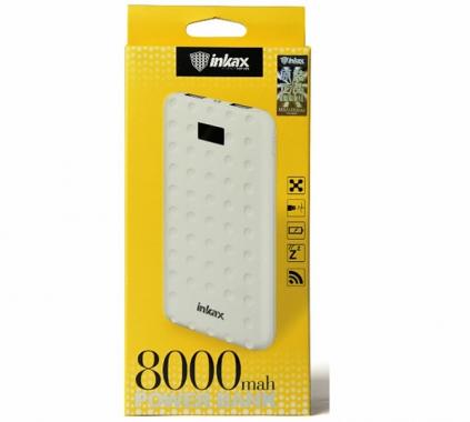 Внешний аккумулятор Inkax PV-12 Power bank 8000 мАч white