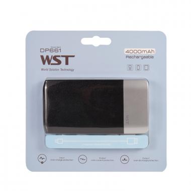Внешний аккумулятор WST DP661 Power bank 4000 мАч черный