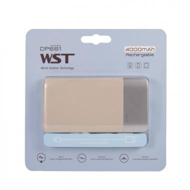 Внешний аккумулятор WST DP661 Power bank 4000 мАч золотой