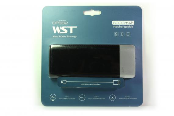 Внешний акб WST DP662 Power bank 6000 черный