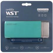 Внешний аккумулятор WST DP662 Power bank 6000 мАч зеленый