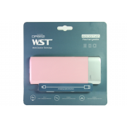 Внешний аккумулятор WST DP662 Power bank 6000 мАч розовый