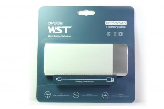 Внешний акб WST DP662 Power bank 6000 белый